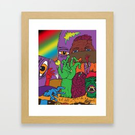 BROKEN WORLD Framed Art Print