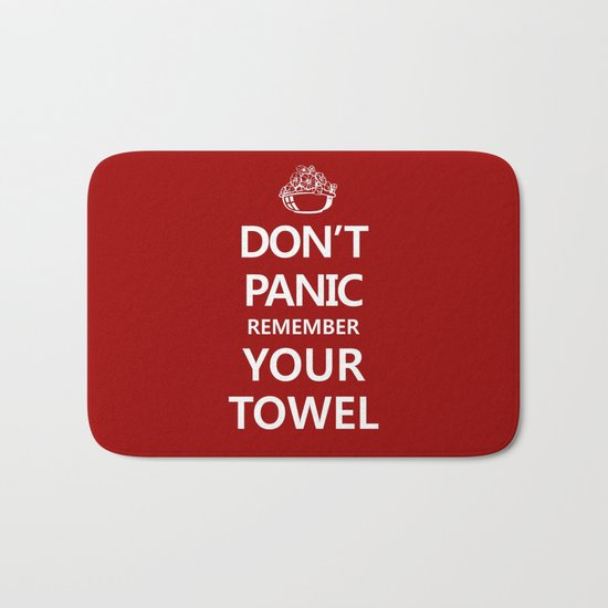 Don't Panic Bath Mat