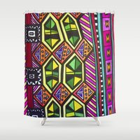 prism Shower Curtains featuring Prism Schism by Katie Anderson Art