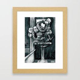 Clown in the Drain Framed Art Print