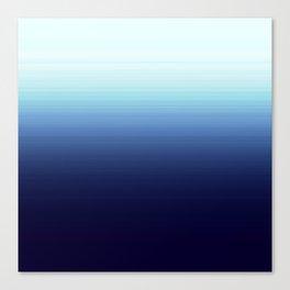 Nautical Blue Ombre Canvas Print