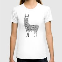llama T-shirts featuring Llama by Lizzie Scott