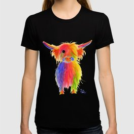 Scottish Highland Cow ' TOTTIE ' by Shirley MacArthur T-shirt