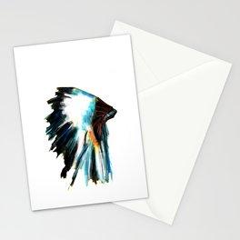 Indian Headdress Native America Illustration Stationery Cards
