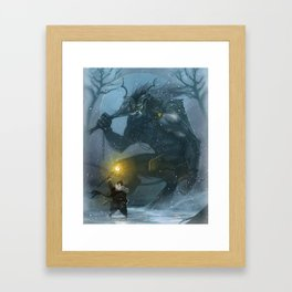St Nick vs the Yule Lord Framed Art Print