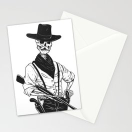 Sheriff with mustache and rifle Stationery Cards