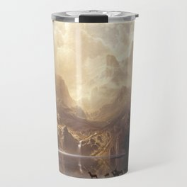 Among the Sierra Nevada, California by Albert Bierstadt Travel Mug
