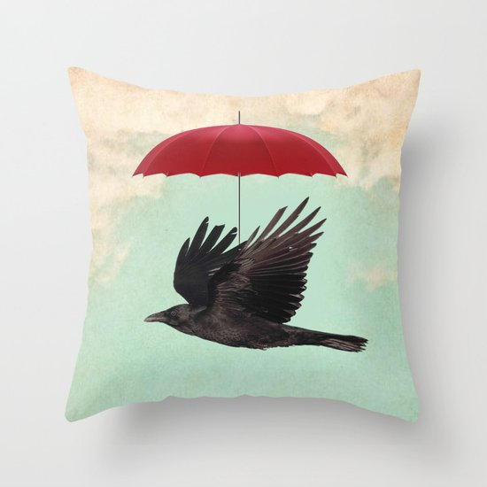 Raven Cover Throw Pillow