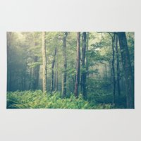 forest Area & Throw Rugs featuring Inner Peace by Olivia Joy StClaire