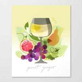 Wine Notes – Pinot Grigio Canvas Print