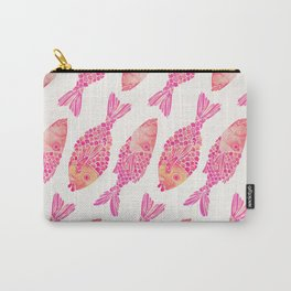 Indonesian Fish Duo – Pink Palette Carry-All Pouch