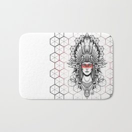 Geometric Indian Bath Mat