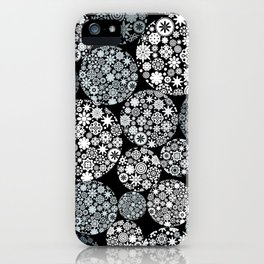 Snow flowers. iPhone Case