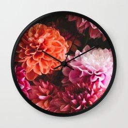Dahliatastic Wall Clock