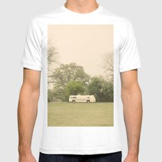lost in the trees::austin MEDIUM Mens Fitted Tee White