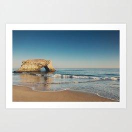 Natural Bridges State Beach ... Art Print