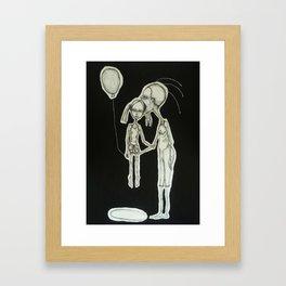 black balloon Framed Art Print