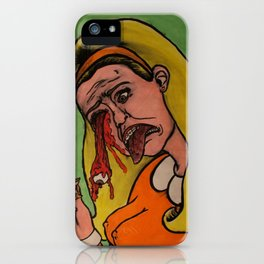 Then her eyeball fell out. iPhone Case