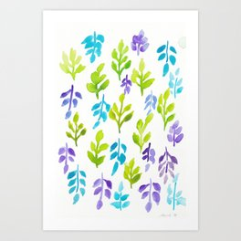 180726 Abstract Leaves Botanical 24|Botanical Illustrations Art Print