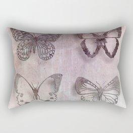 Powder Blush Pink and Lavender Butterflies Rectangular Pillow