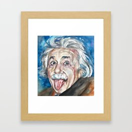 ALBERT EINSTEIN - watercolor portrait Framed Art Print