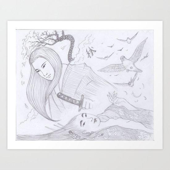 Japonesque Art Print