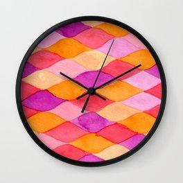 Scarlet Deep Orange Red Violet Wall Clock