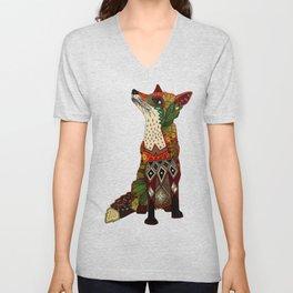 fox love mint Unisex V-Neck