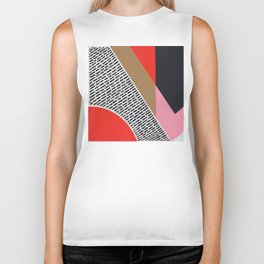 Pink Gold Red Abstract Biker Tank