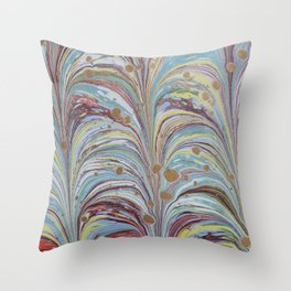 Marbled Multicolor Fountain Throw Pillow