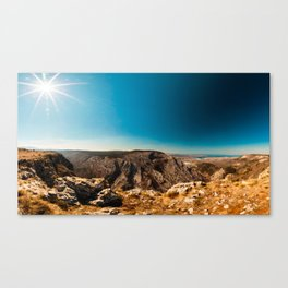 Sunny day in Val Rosandra Canvas Print