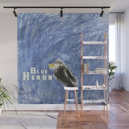 Blue Heron Wall Mural