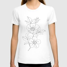 Floral one line drawing - Rose T-shirt
