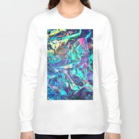 holographic Long Sleeve T-shirts featuring Holographic II by Nestor2