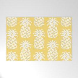 Retro Mid Century Modern Pineapple Pattern 732 Yellow Welcome Mat