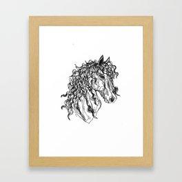 Friesian Framed Art Print