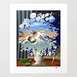 DW-027 Homage To Magritte Art Print