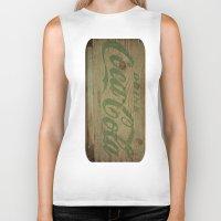 coca cola Biker Tanks featuring Drink Coca Cola by Irène Sneddon