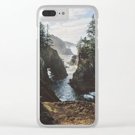 Misty Oregon Coast Clear iPhone Case