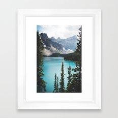 •lake moraine • Framed Art Print
