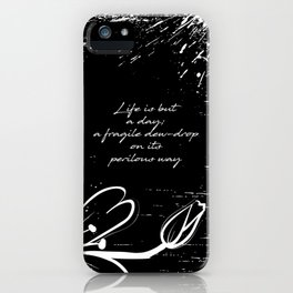 John Keats - Life is but a Day iPhone Case