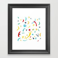 Funky Pastels Framed Art Print