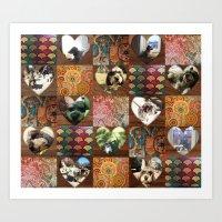 Ebee Quilt Art Print