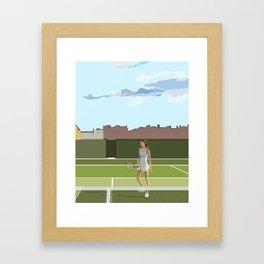 Lyza on the Court Framed Art Print