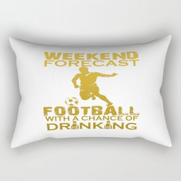 WEEKEND FORECAST FOOTBALL Rectangular Pillow