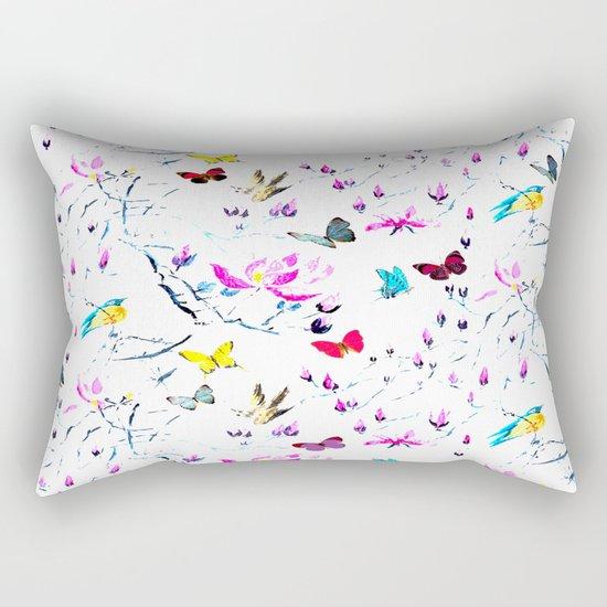Butterflies Forest Rectangular Pillow
