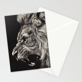 Angry Male Lion Stationery Cards