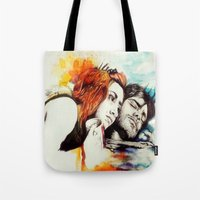 eternal sunshine of the spotless mind Tote Bags featuring Eternal Sunshine by Alycia Plank