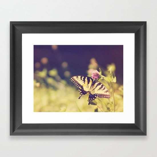 If nothing changed, there'd be no butterflies.~walt disney Framed Art Print
