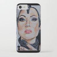 regina mills iPhone & iPod Cases featuring Regina Mills/Evil Queen by Bernadette Woods